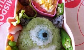 【モンスターズ・インク マイク・ワゾウスキ】のお弁当★名前長い