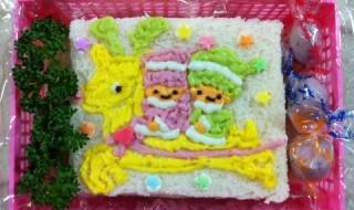 【リトルツインスターズ(キキララ) クリスマス】のお弁当★ハッピーバースデー!!