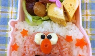 【セサミストリート エルモ】のお弁当★明太子辛い