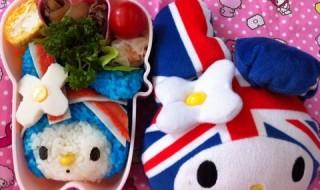 【ユニオンジャックマイメロディ】のお弁当★イギリスの国旗!!