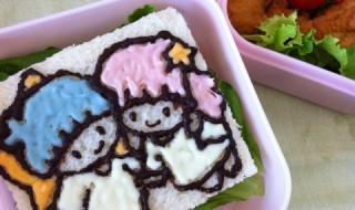 【リトルツインスターズ(キキララ)】のお弁当★甘いサンドウィッチ