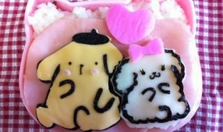 【ポムポムプリン&マカロンちゃん】のお弁当★超絶可愛い新キャラクター!まっしろ!ふわふわ!