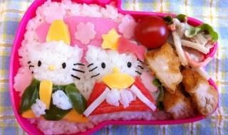 【ひな祭り ハローキティ&ディアダニエル】のお弁当