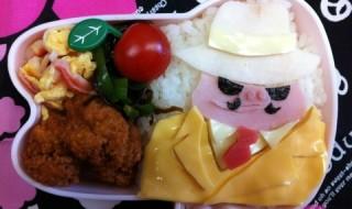 【紅の豚 マルコ・パゴット】のお弁当★飛ばねぇ豚は、ただの豚だ!